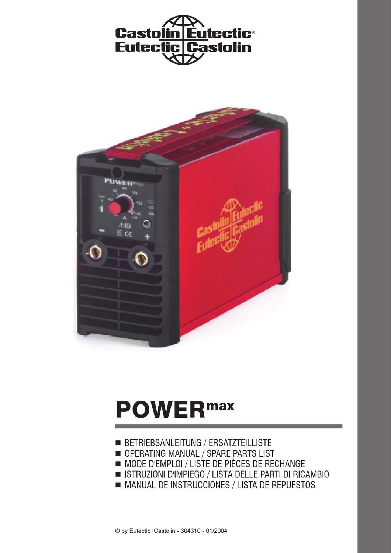POWERmax-Bedienungsanleitung by Castolin Eutectic - issuu