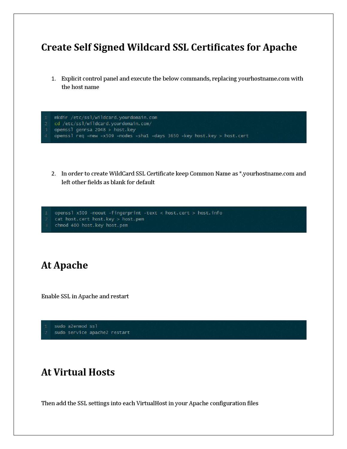 Create Self Signed Wildcard Ssl For Apache Rapidly Rapidsslonline