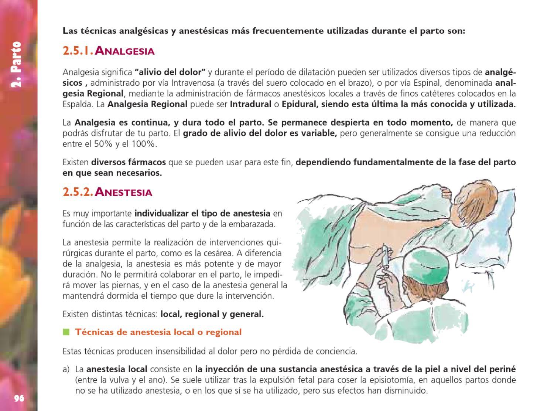 anestesia general y embarazada