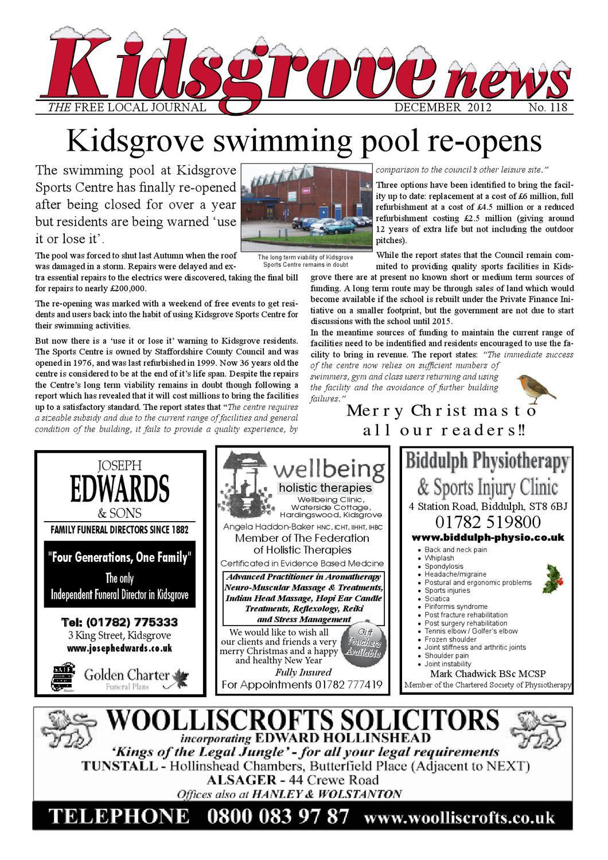 kidsgrove news december 2012 by bob richards issuu