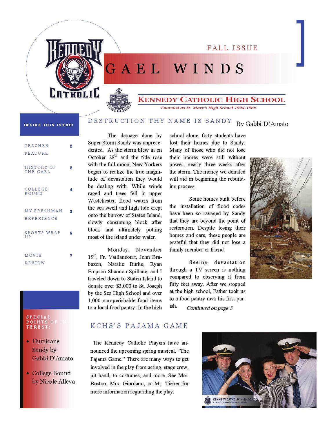 Gael Winds, Fall 2012 by Kennedy Catholic - issuu