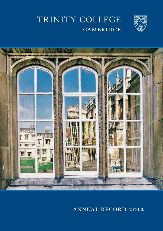 e94608e2d002 Annual Record 2012 by Trinity College Cambridge - issuu