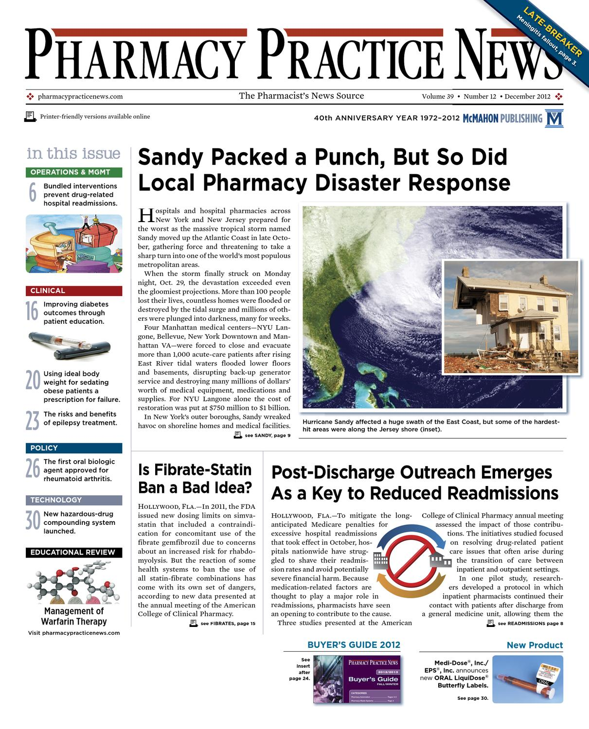 The December 2012 Digital Edition Of Pharmacy Practice News