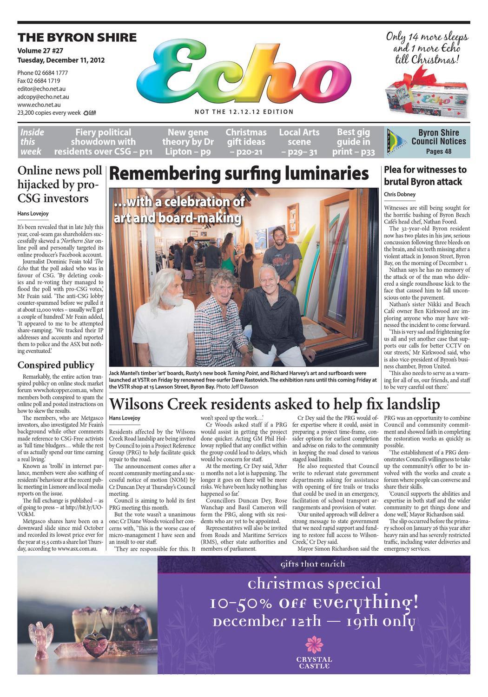 Byron Shire Echo – Issue 27.27 – 11/12/2012 by Echo Publications - issuu