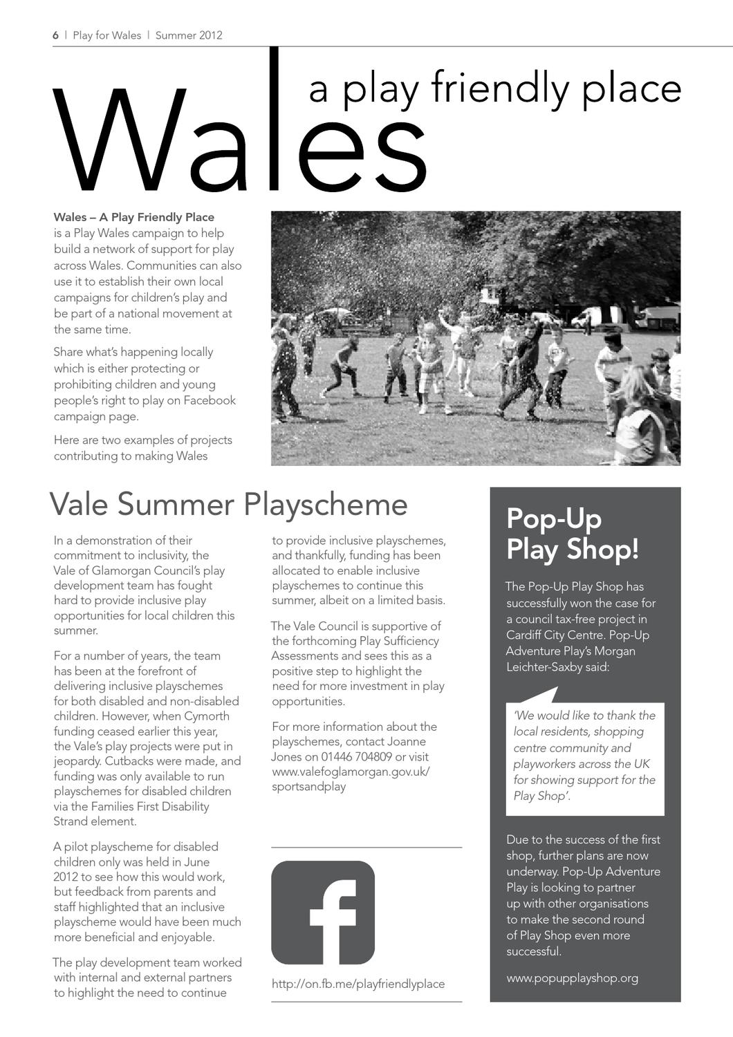 Play for Wales issue 37 by Play Wales - issuu