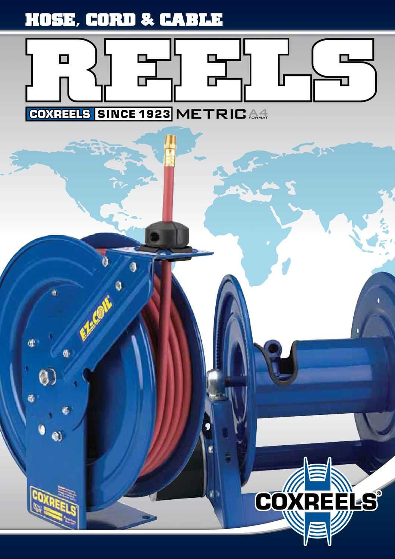 2500 PSI 30/' hose less hose Coxreels E-MPL-430 Spring Rewind Enclosed Cabinet Hose Reel for air//water//oil: 1//2 I.D. 30 hose