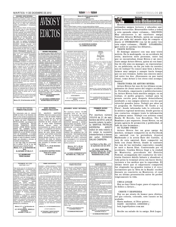 11 Diciembre 2012 Va reforma educativa by unomásuno - issuu
