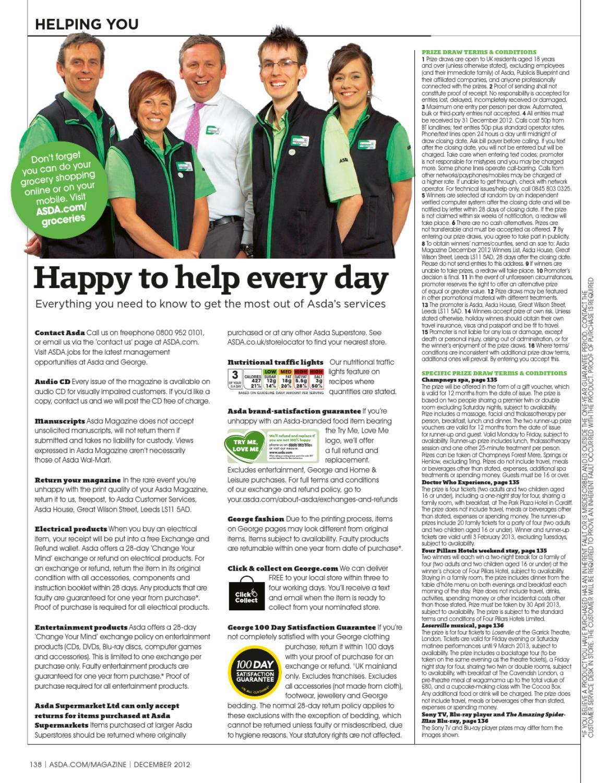 Asda Magazine December 2012 by Asda - issuu
