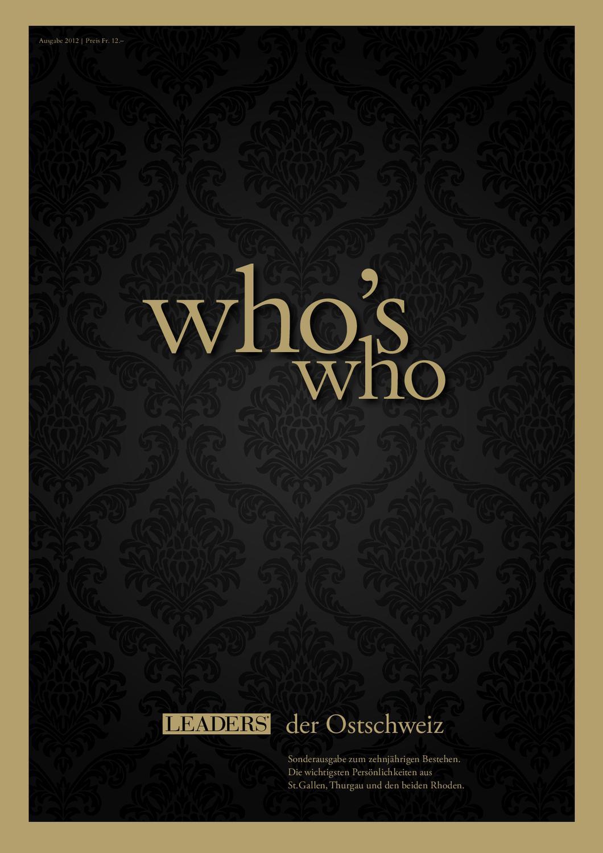 Who is who 2012 by LEADER - das Unternehmermagazin - issuu