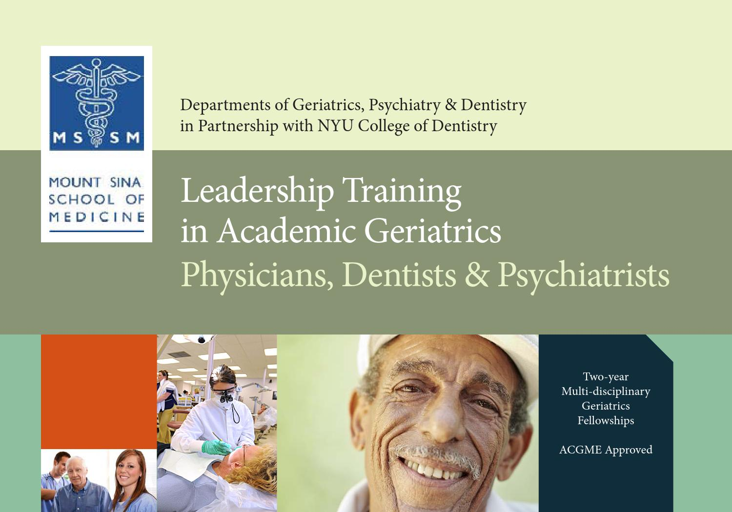 Leadership Training in Academic Geriatrics by Mount Sinai Health