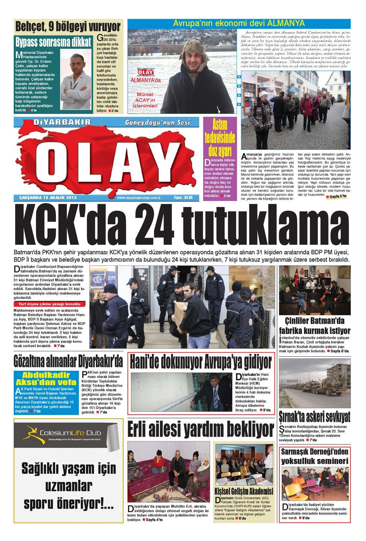 12 12 2012 Gazete Sayfalari By Diyarbakir Olaygazetesi Issuu