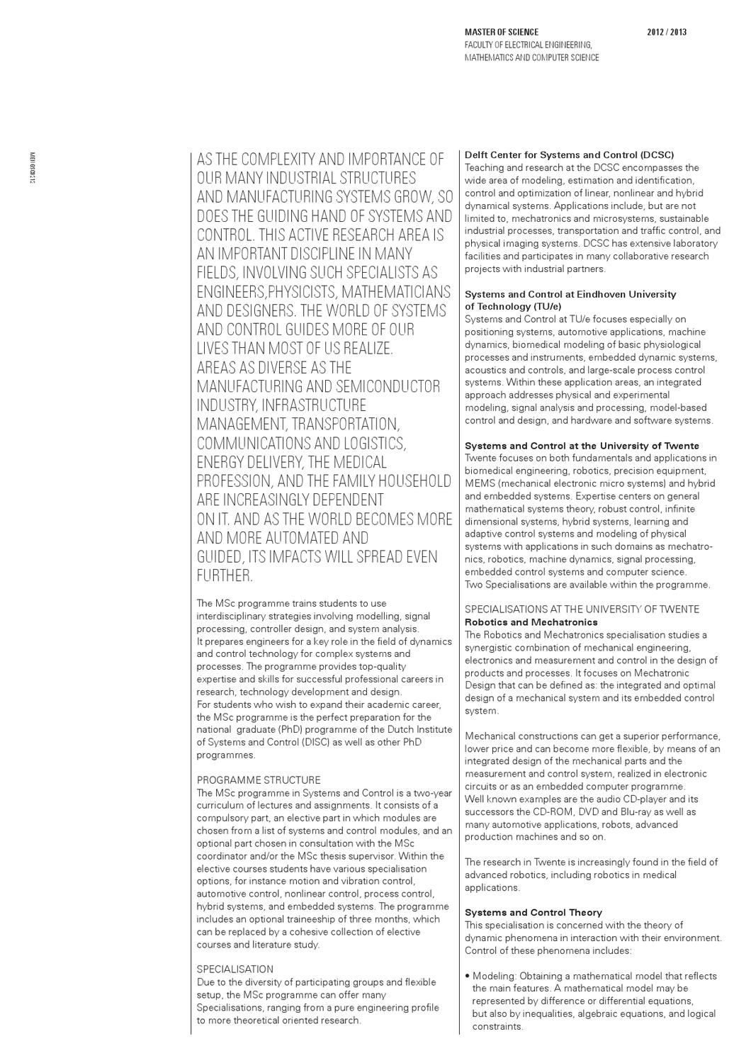 Systems and Control by University of Twente - issuu