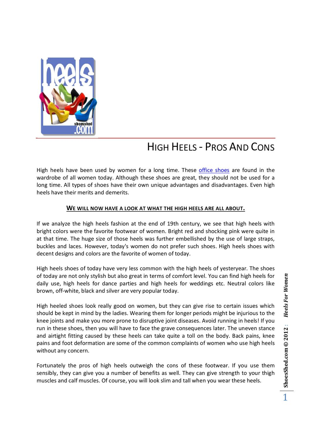 HIGH HEELS - PROS AND CONS by Roger Severson - issuu