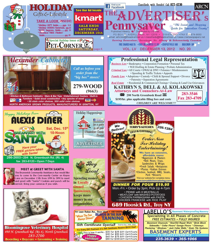 Advertiser North 121312 by Capital Region Weekly Newspapers