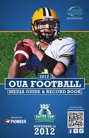 2012 OUA Football Media Guide by Ontario University Athletics - issuu 8c20f7110