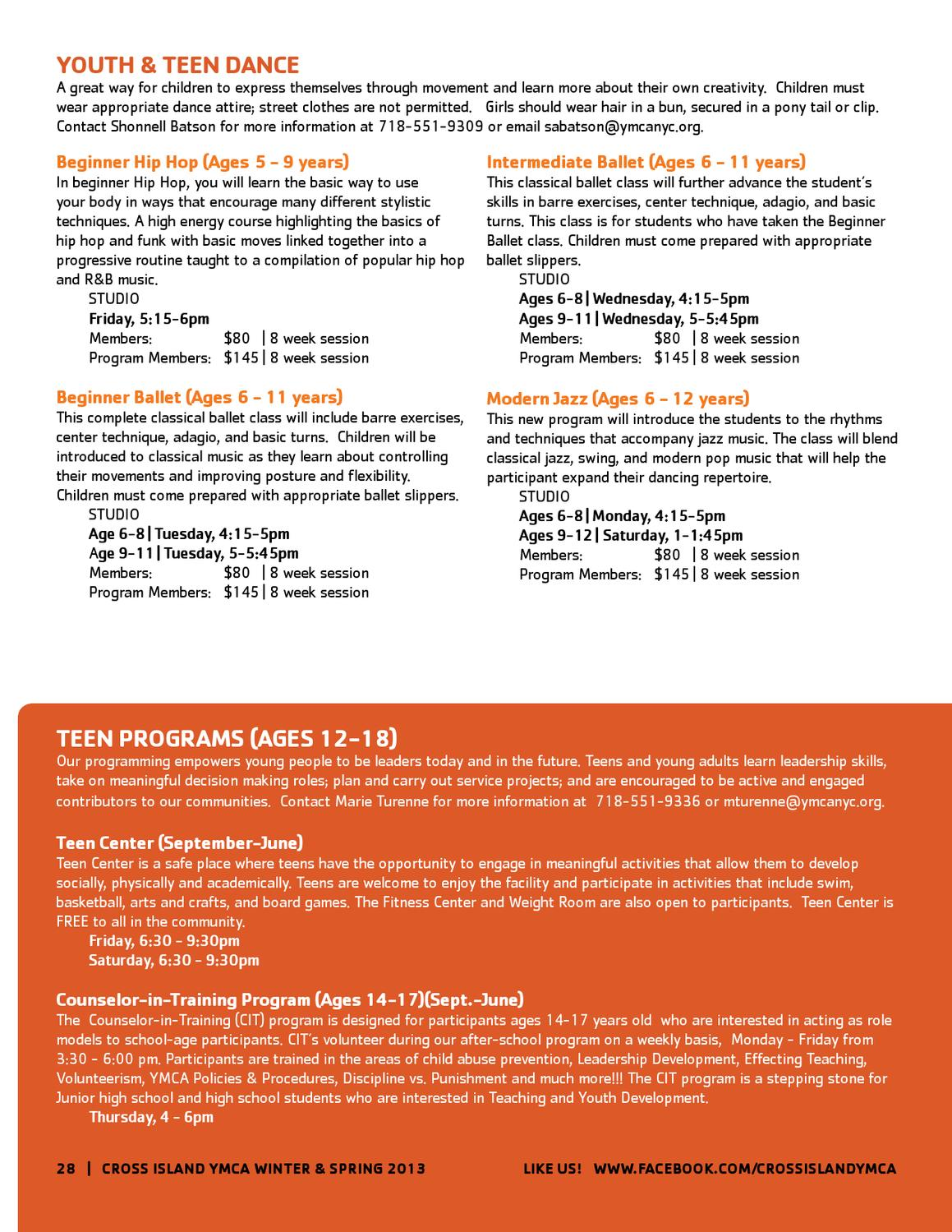 CIY Winter-Spring2013 Program Guide by New York City's YMCA