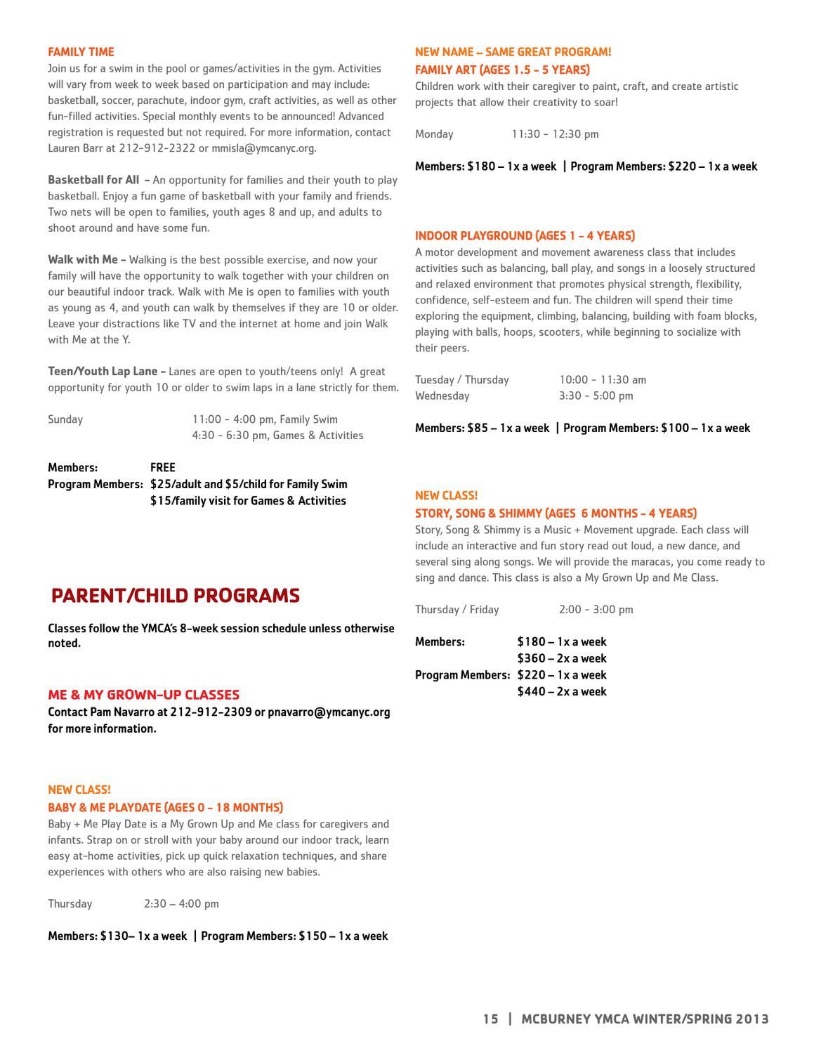McBurney YMCA Winter-Spring2013 Program Guide by New York