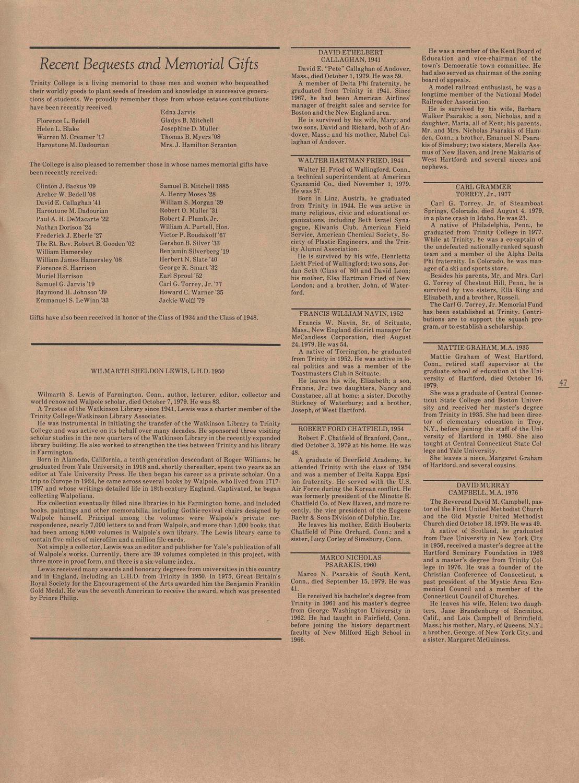 1979Fall by Trinity College Digital Repository - issuu
