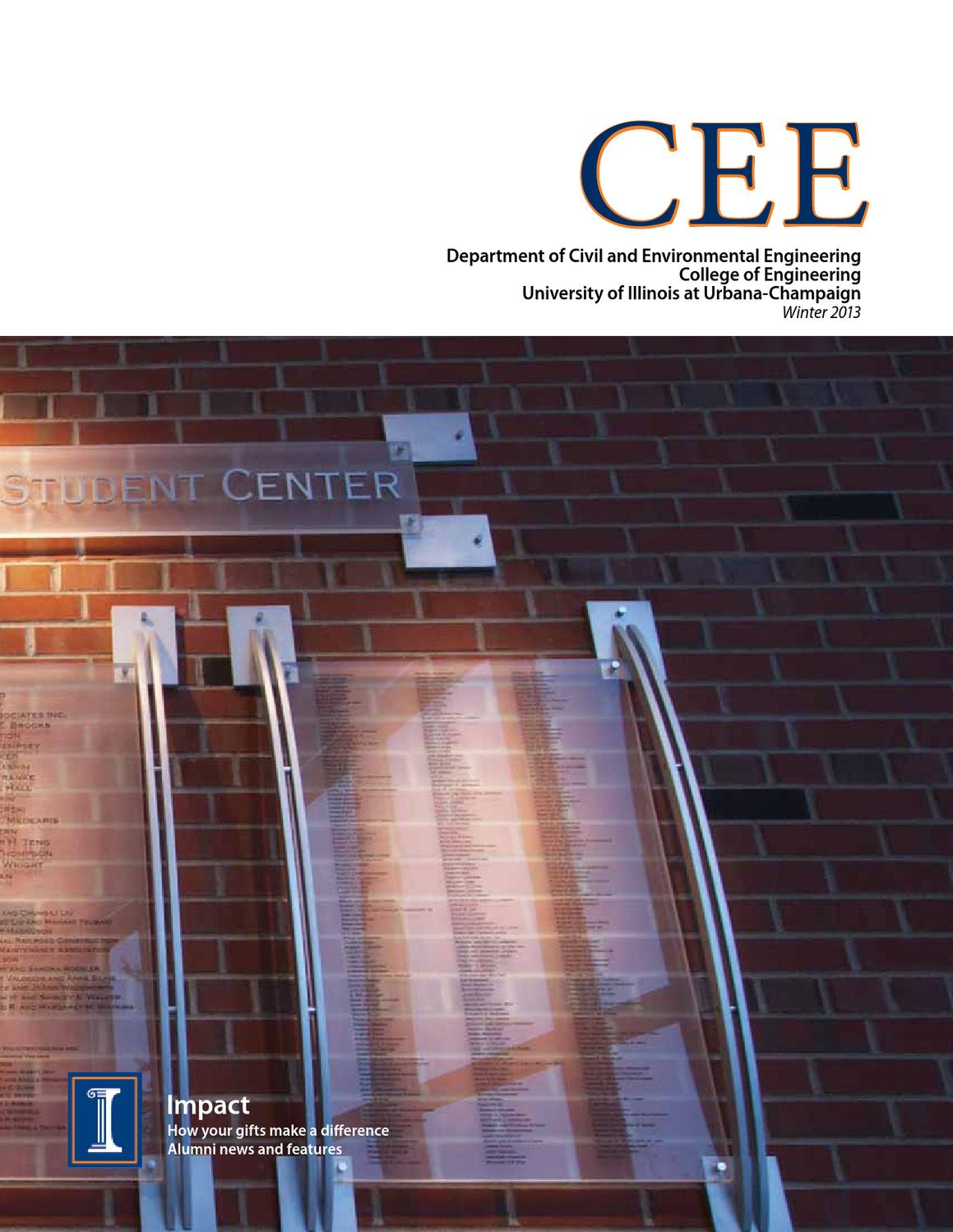 CEE Magazine Winter 2013 by Department of Civil and