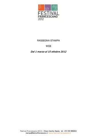 Rassegna stampa Festival Francescano 2012 - Web by Festival ... af36891cd78