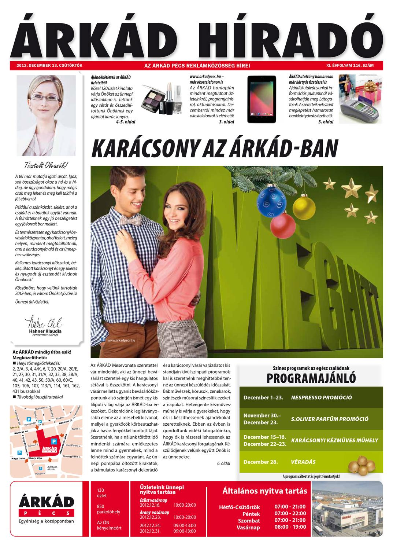 ÁRKÁD Híradó XI 116 by Company Info Kft. - issuu 640827dec4