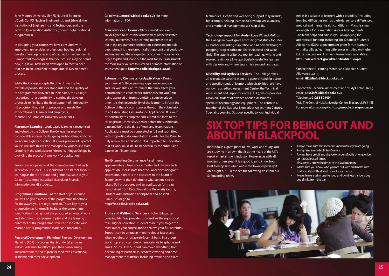 Learner Handbook by Blackpool and The Fylde College - issuu