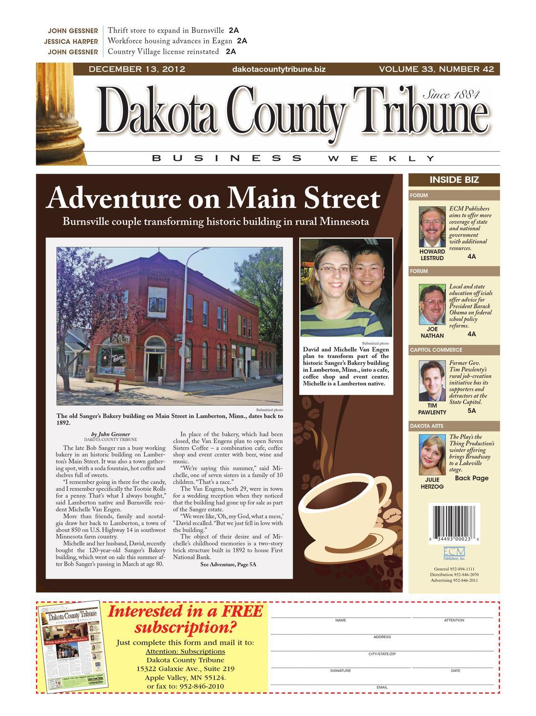 12/13/2012 - dakota county tribune business weekly by dakota