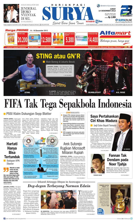 E Paper Surya Edisi 14 Desember 2012 By Harian Issuu Kebab Pisang Coklat Champlo Sf