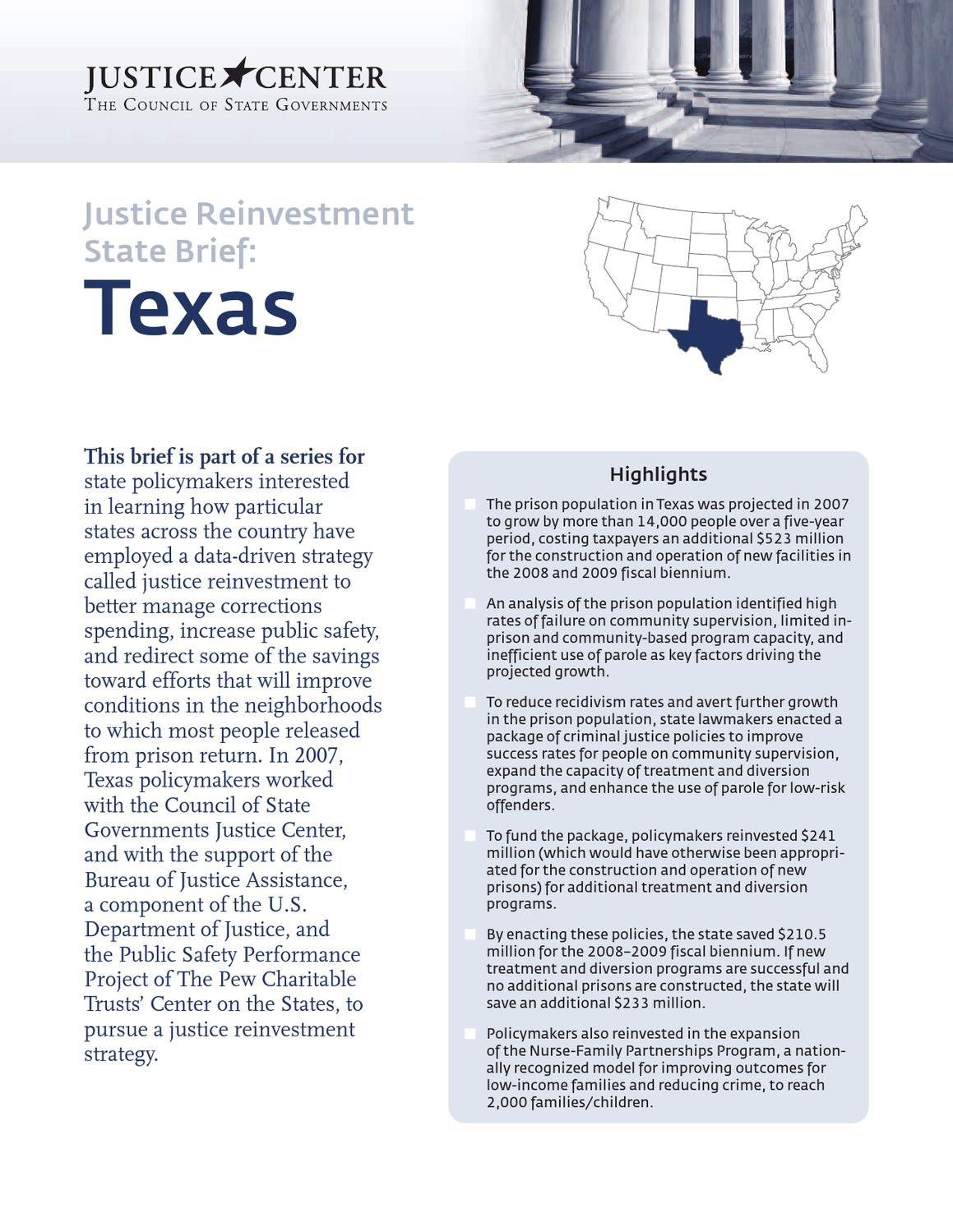 texasstatebrief-letter by CSG Justice Center - issuu