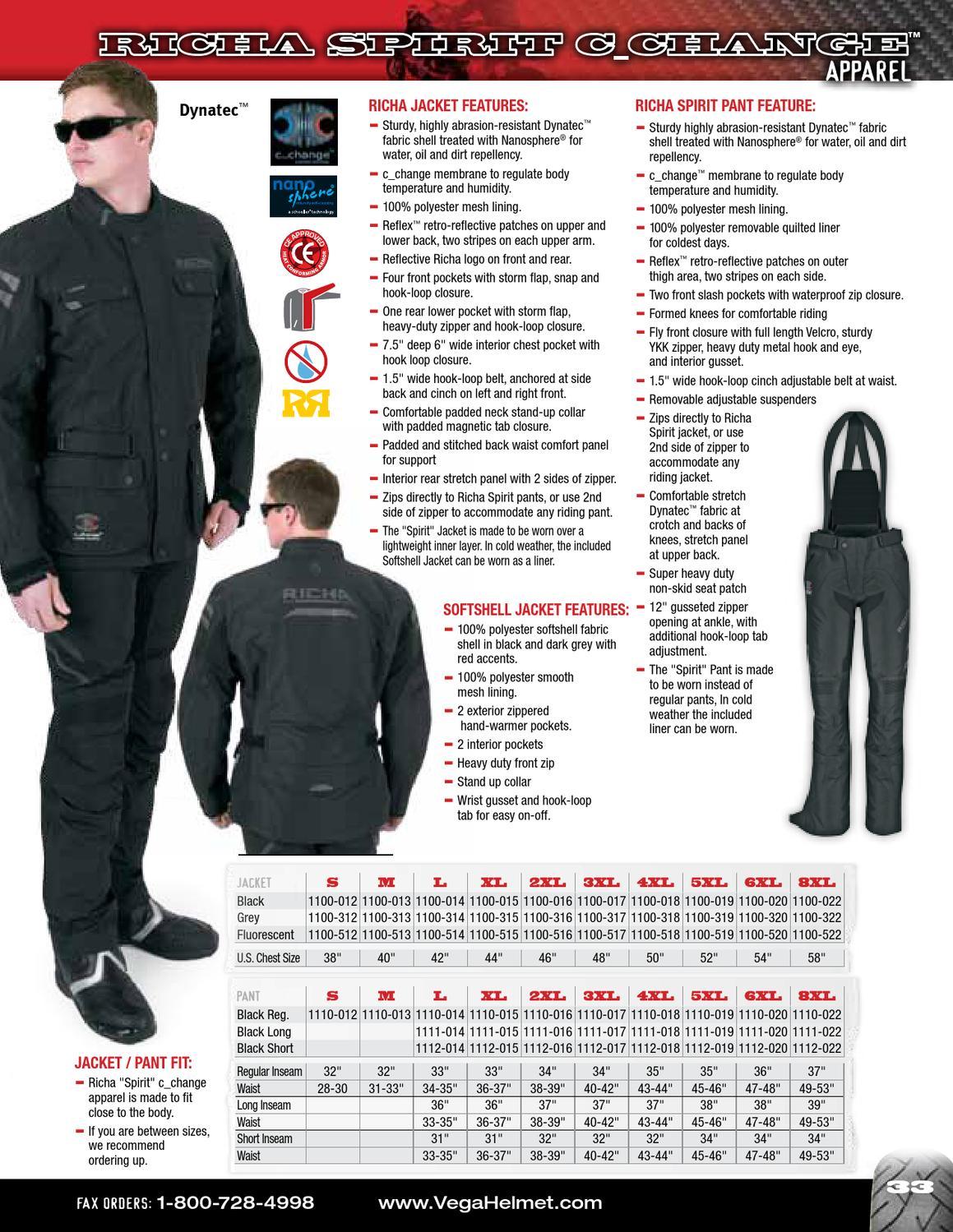 Black, 4XL Richa Spirit C/_Change Motorcycle Pants