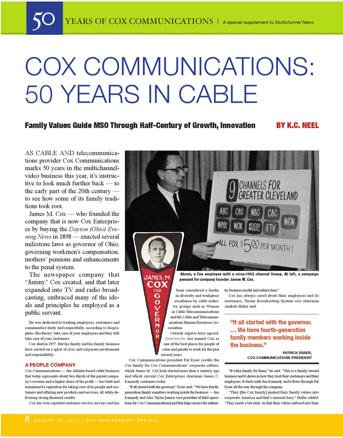 Cox Comunication 50th Anniversary by Ann McGettigan - issuu