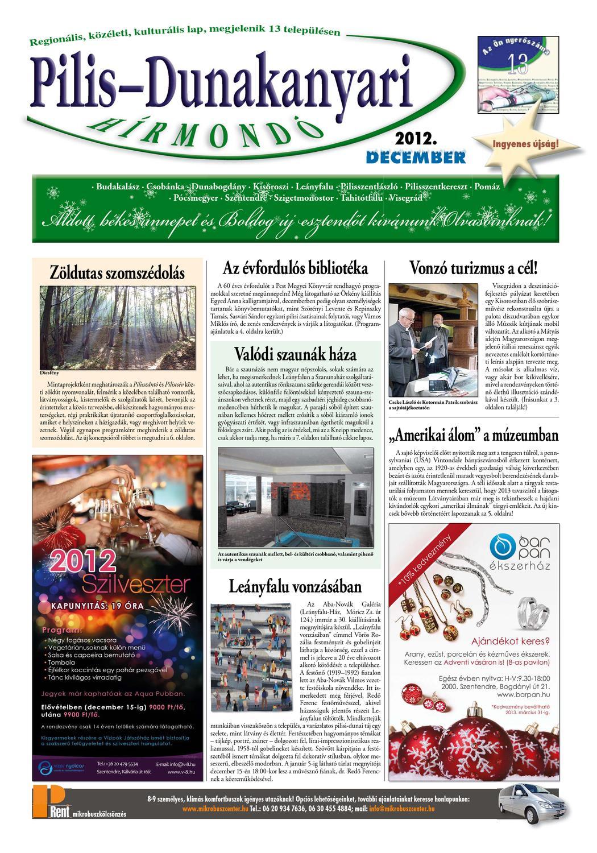 2e4456630eb1 Pilis-Dunakanyari Hírmondó 2012. december by Szentendre NET - issuu