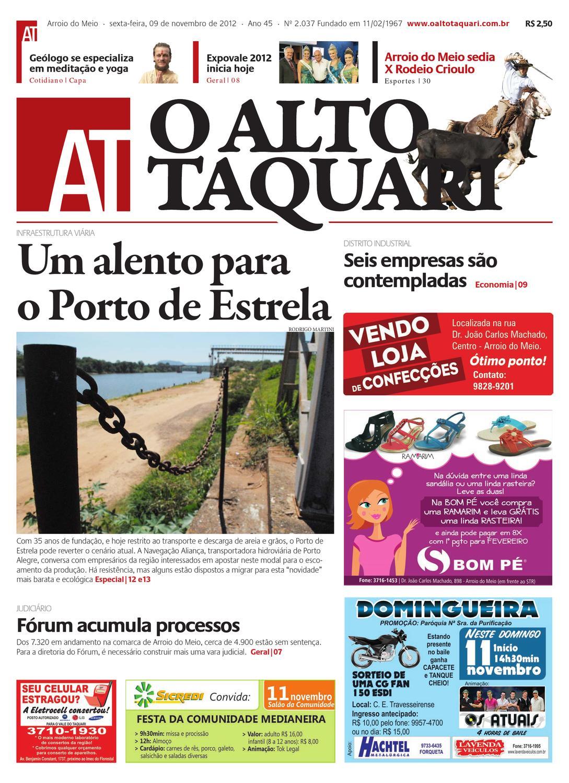Jornal O Alto Taquari - 09 de novembro de 2012 by Jornal O Alto Taquari -  issuu ef6e2fe2801