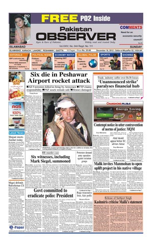 Six die in Peshawar Airport rocket attack All 5 terrorists killed in  firing by Armymen TTP claims responsibility PAF assets remain safe  Houses ...