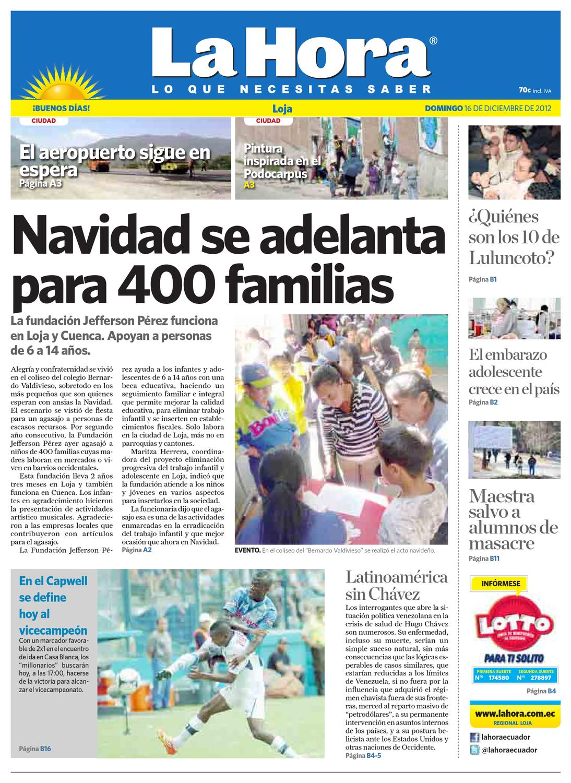 Diario La Hora Loja 16 de Diciembre 2012 by Diario La Hora Ecuador - issuu e750a7e43ddcb