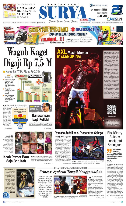 E Paper Surya Edisi 17 Desember 2012 By Harian Issuu Produk Ukm Bumn Batik Tulis Babon Angrem