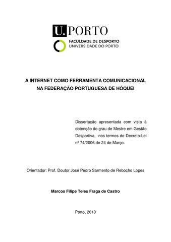 A INTERNET COMO FERRAMENTA COMUNICACIONAL NA FEDERAÇÃO PORTUGUESA DE HÓQUEI aae1d649617da