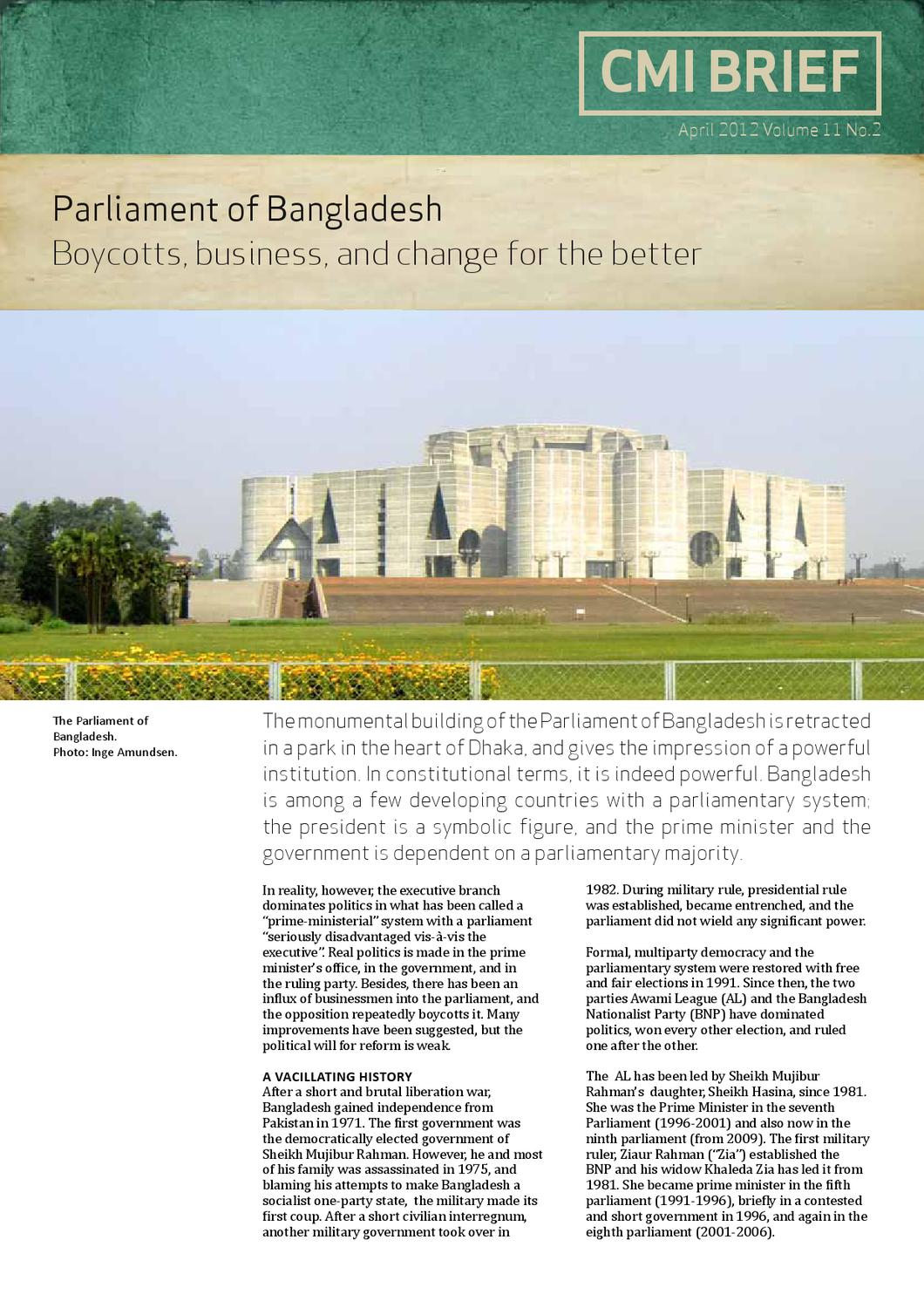 Parliament of Bangladesh: Boycotts, business, and change for