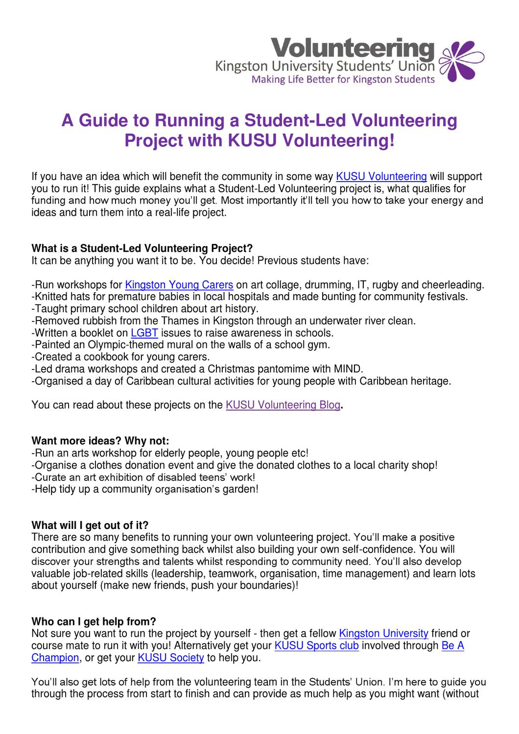 Guide to running a student led volunteering project by lauren stopps guide to running a student led volunteering project by lauren stopps issuu solutioingenieria Images