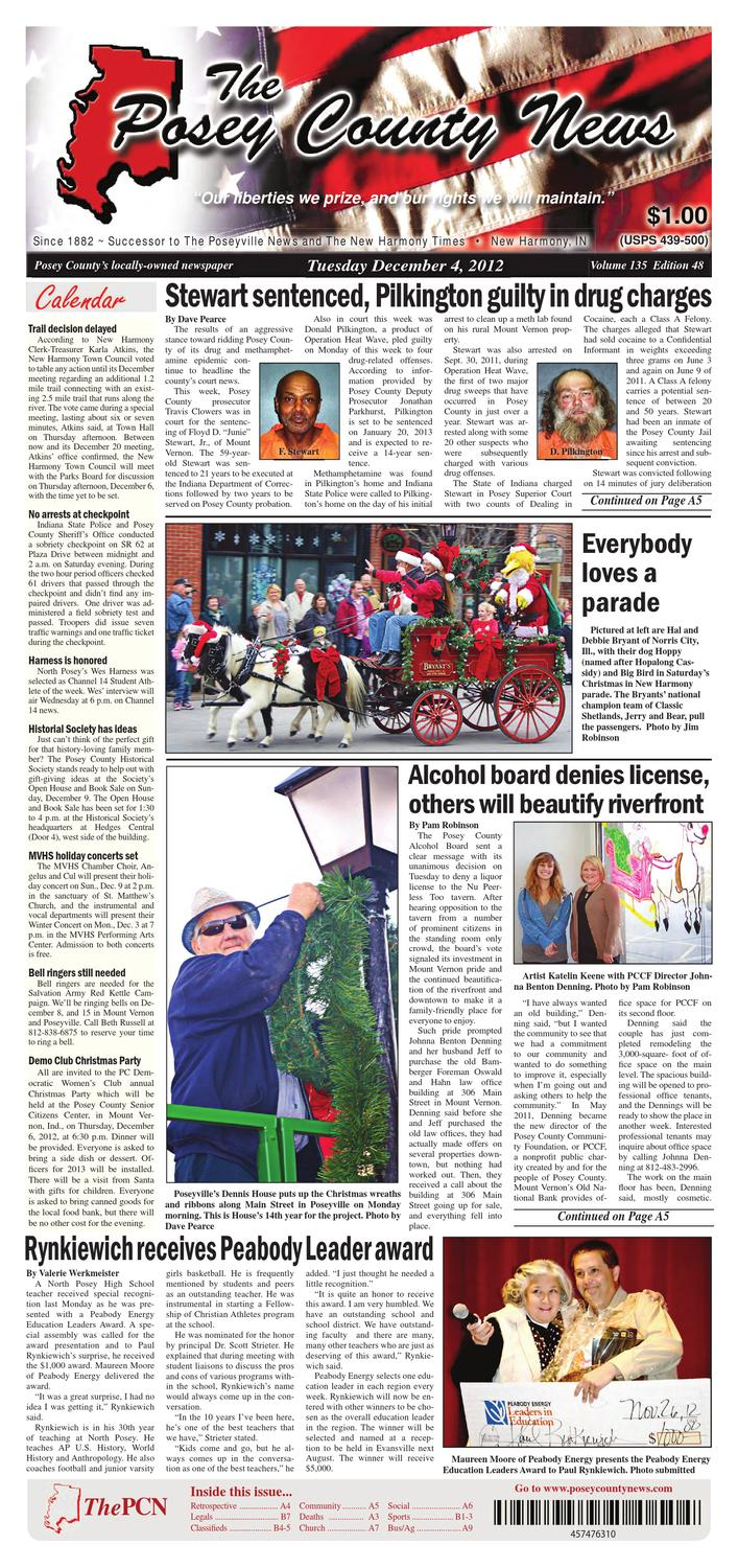 December 4 2012 The Posey County News By Reece Wiring Harness Toyota Issuu