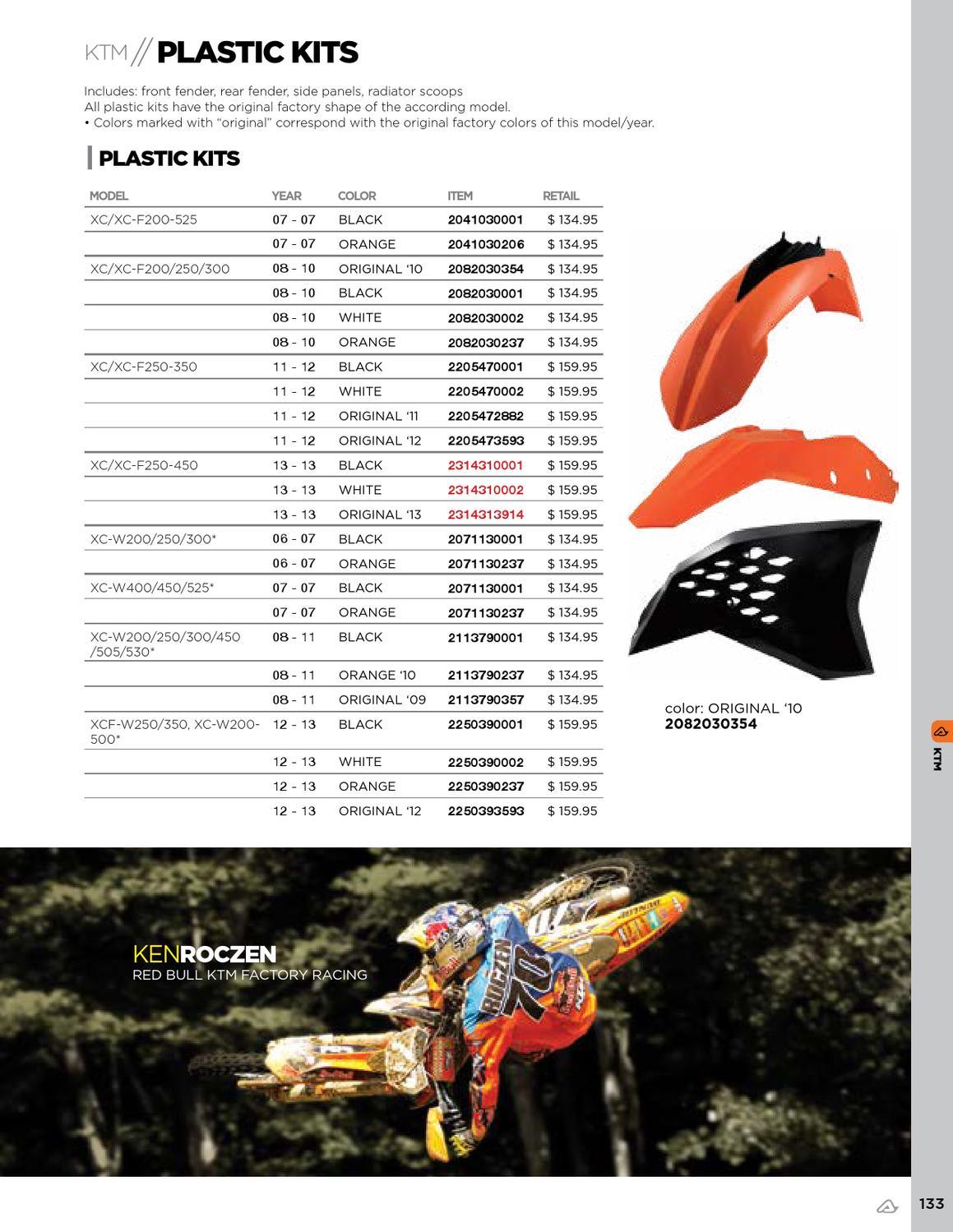 Plastic Kit Acerbis Black 2071130001