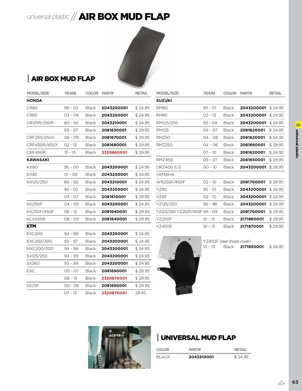 Airbox Mud Flap Acerbis Black 2081680001