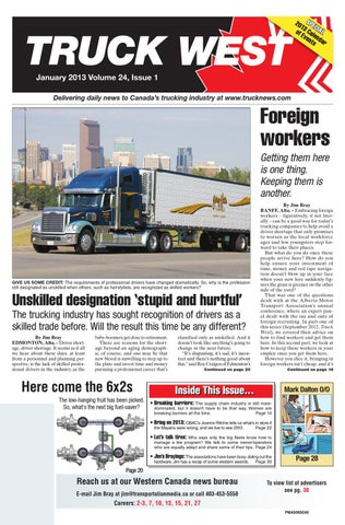 Truck West January 2013 by Annex Business Media - issuu
