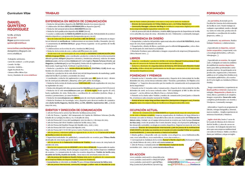 CV Dani Quintero by Retahila.es - issuu