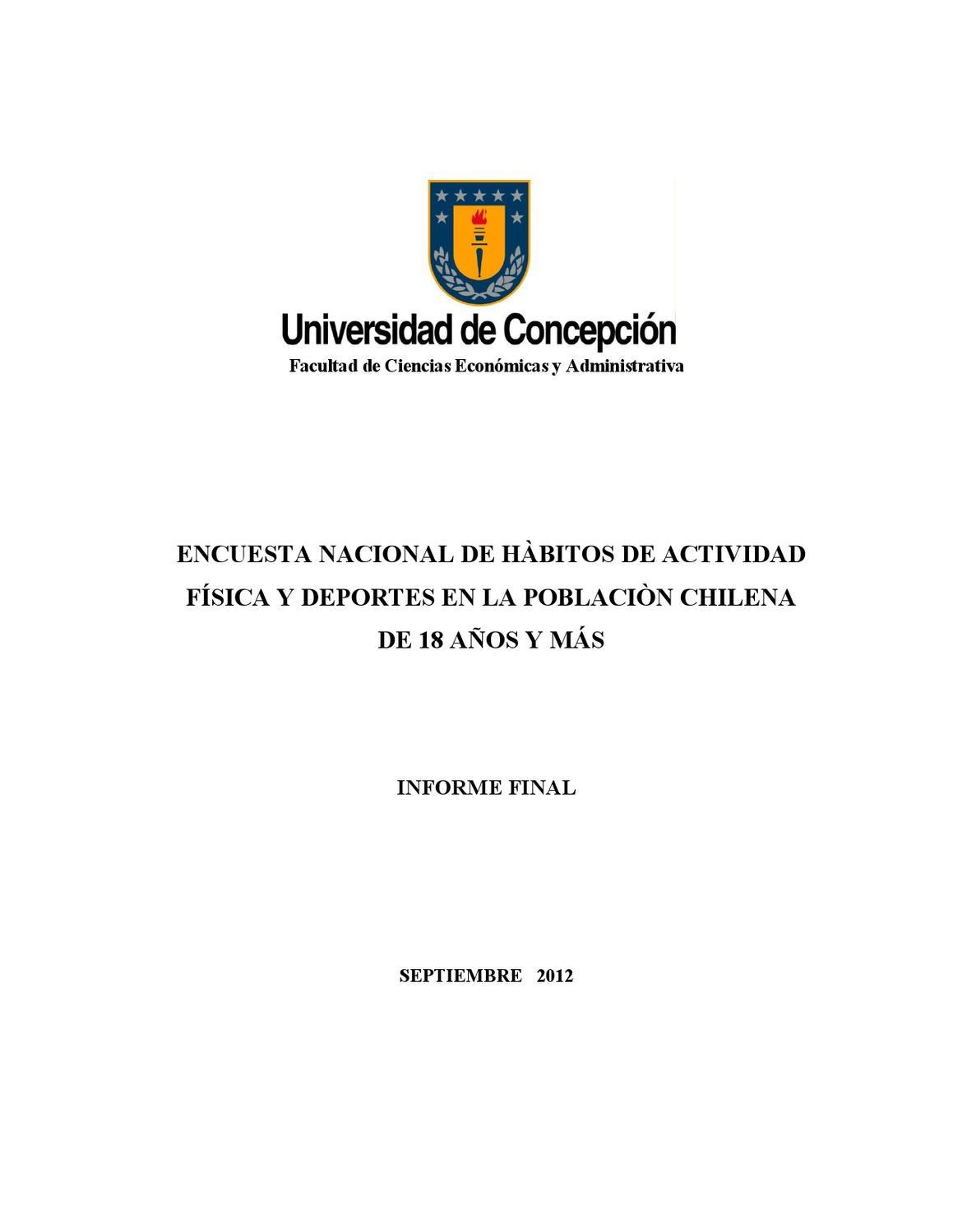 Encuesta Nacional de Hábitos de Actividad Física y Deportes 2012 by ...
