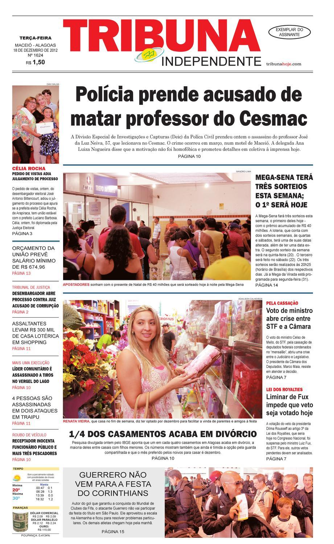 5d1c36ba2b Edição número 1624 - 18 de dezembro de 2012 by Tribuna Hoje - issuu