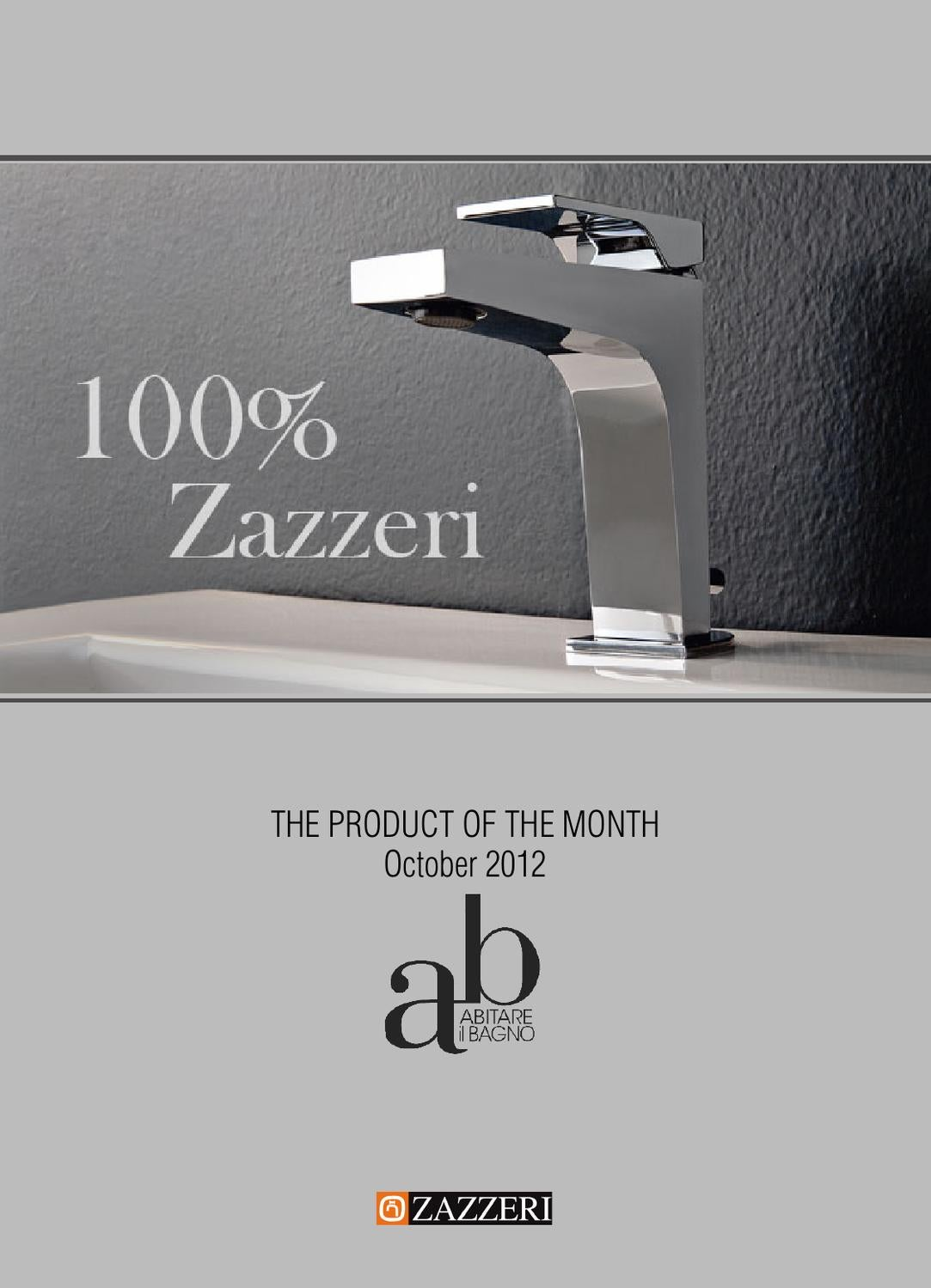 100 zazzeri the product of the month for the magazine abitare il bagno by rubinetterie - Il bagno magazine ...