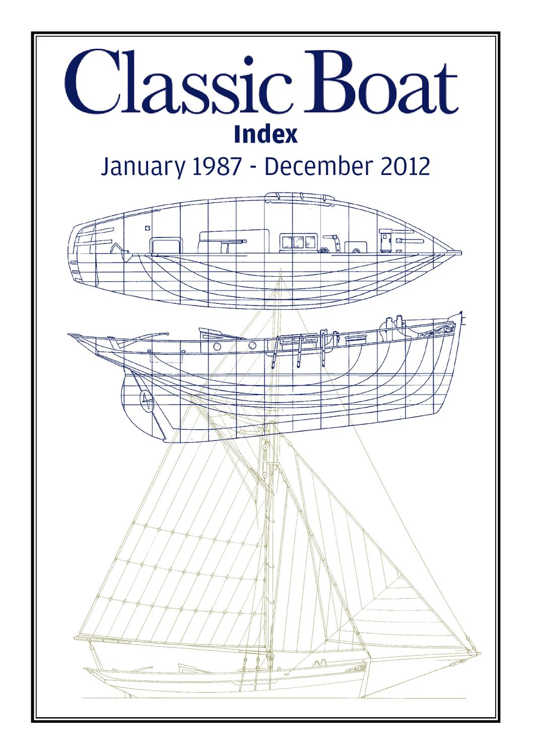Classic Boat Index 1987 - 2012 by The Chelsea Magazine Company - issuu