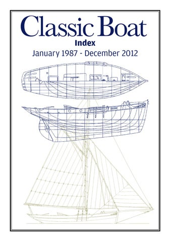 adf66f2af350 Classic Boat Index 1987 - 2012 by The Chelsea Magazine Company - issuu