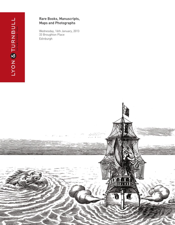 Rare Books, Maps & Manuscripts | 16th January 2013 by Lyon ...